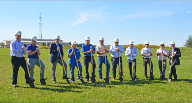 Groundbreaking ceremony Bekaert Orrville
